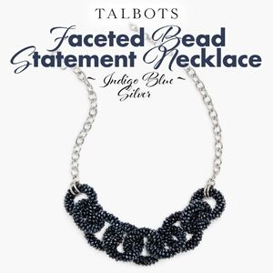 Indigo Blue Faceted Bead Necklace